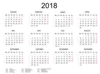 Kalender 2018 Querformat