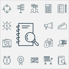 Management Icons Set. Collection Of Discussion, Opportunity, Board And Other Elements. Also Includes Symbols Such As Personality, Presentation, Notebook.