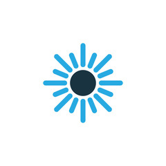 Dhuhr Colorful Icon Symbol. Premium Quality Isolated Sun Element In Trendy Style.