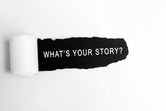 What's your story text on torn paper