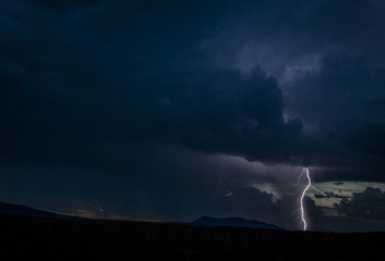 LIghtning at Night. Rio Grande del Norte National Monument. New Mexico.
