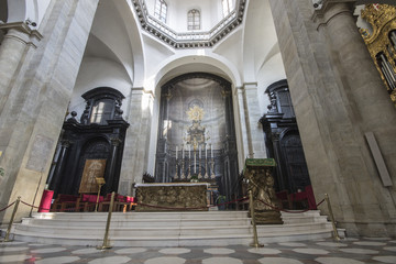 The Turin Cathedral, a Roman Catholic church dedicated to Saint John the Baptist and current resting place of the Holy Shroud.