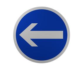 Verkehrszeichen: Vorgeschriebene Fahrtrichtung, hier links
