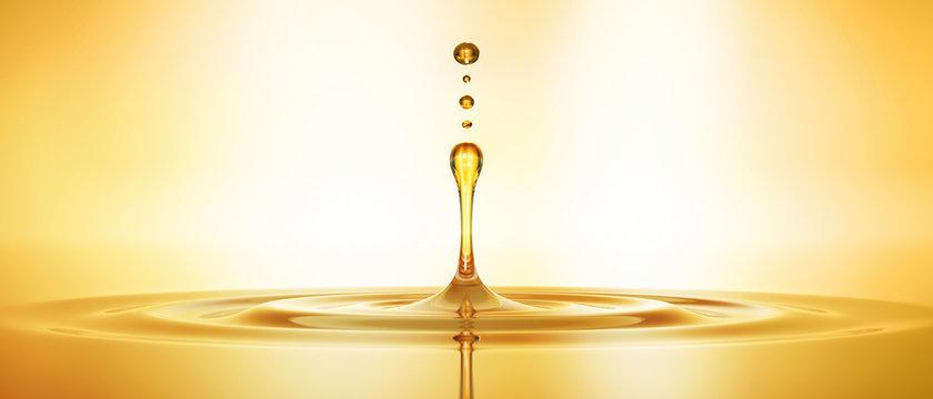 Tropfen aus goldenem Öl 3
