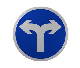 Verkehrszeichen: Vorgeschriebene Fahrtrichtung, rechts und links