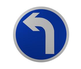 Verkehrszeichen: Vorgeschriebene Fahrtrichtung, links