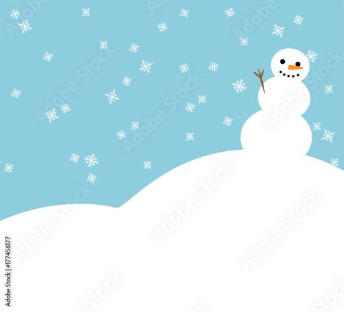 cartoon vector illustration of winter christmas simple background