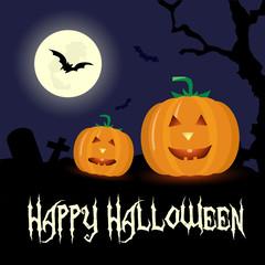 Happy Halloween horror illustration