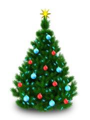 3d dark green Christmas tree