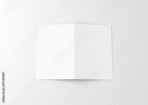 white blank bifold paper brochure stock photo and royalty free