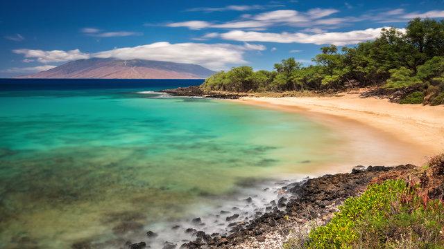 Little  Beach Dream. Dreamy long exposure of Little Beach on the Island of Maui, Hawaii