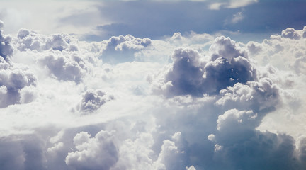 fluffy and white clouds