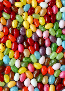 Colorful jelly bean candy