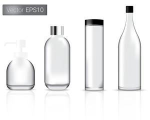 Glass Bottles Set Illustration