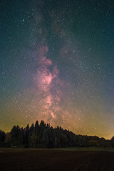 The Milky Way as seen from Battenberg in the Palatinate Forest in Germany.