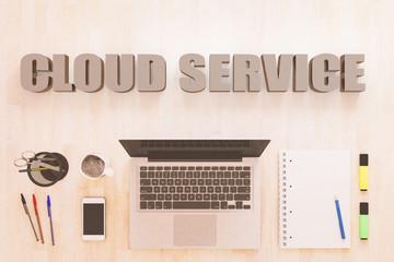 Cloud Service text concept