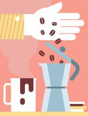 Making Coffe in a Moka Pot