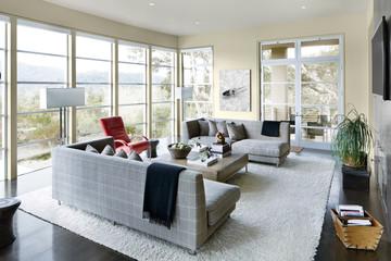 Living room of modern design luxury home