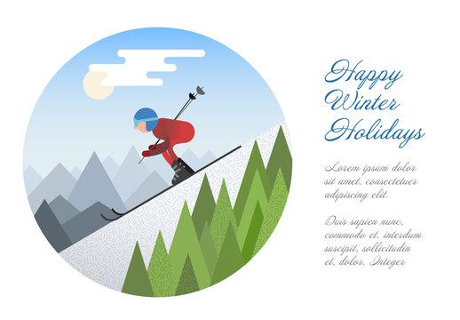 Winter Holidays Card Layout 1