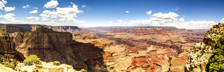 Panorama: The Skeleton from the Grand View Point - Grand Canyon, AZ, USA