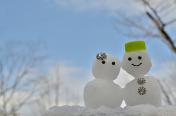 雪だるま 青空