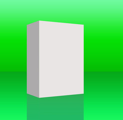 White box with shadow