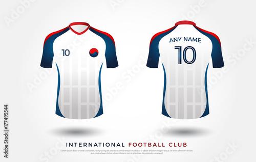 d41a47a4b soccer t-shirt design uniform set of soccer kit. football jersey template  for football club. white