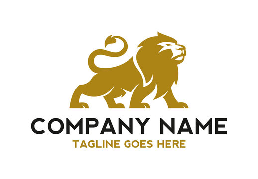 unique lion logo illustration