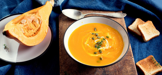 Traditional pumpkin soup