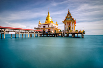 Beautiful scene of thai temple at Wat Hong Thong temple at Chachoengsao province Thailand