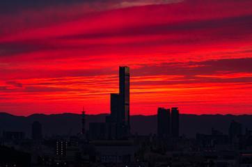 Photo sur Plexiglas Bordeaux 朝焼け