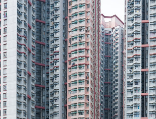 Real estate building in Hong Kong