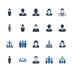 Business People Icons - Blue Version