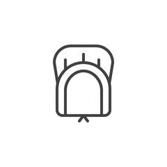 Pilgrim hat line icon, outline vector sign, linear style pictogram isolated on white. Holiday symbol, logo illustration. Editable stroke