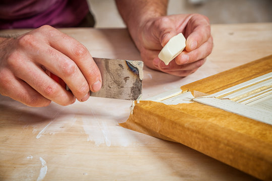 man carpenter restoring