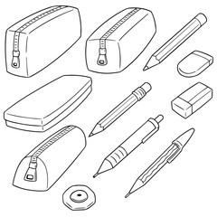 vector set of pencil case