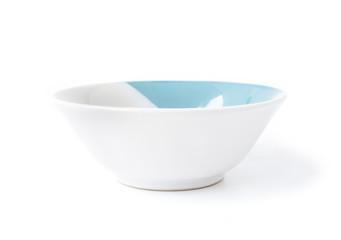 White ceramic bowl on white background