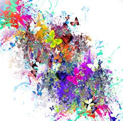 абстрактный магический цветной фон