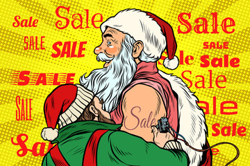 Sale, elf makes Santa Claus tattoo