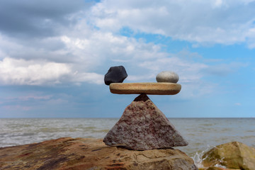 Zen balance on coast