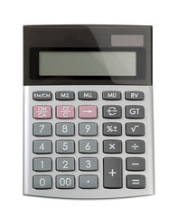 Calculator isolated on white background.