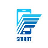 Mobile phone vector logo concept illustration  Smarthone