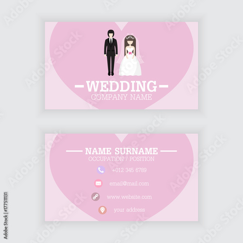 Vector Design Of Wedding Business Card Template Stock Image And - Wedding business card template