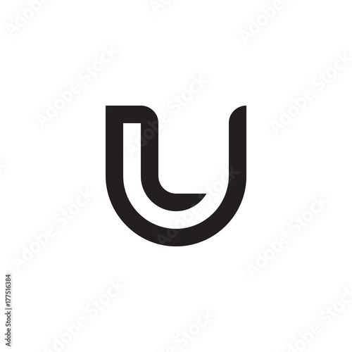Initial Letter Lu Ul L Inside U Linked Line Circle Shape Logo