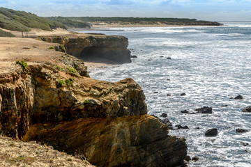 Atlantic coast at Jard-sur-Mer, Vendée, france
