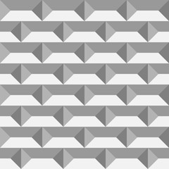 3D paper bricks. Seamless vector pattern background.