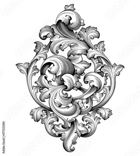 vintage baroque victorian frame border corner monogram floral engraved scroll ornament leaf. Black Bedroom Furniture Sets. Home Design Ideas