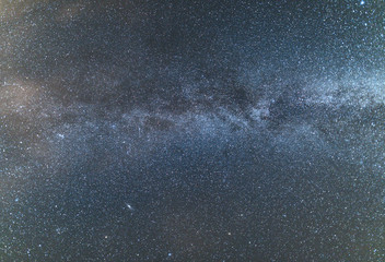Milky Way over the clear night sky.
