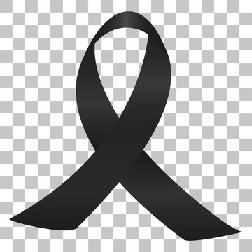 Picture of a black ribbon on a transparent background