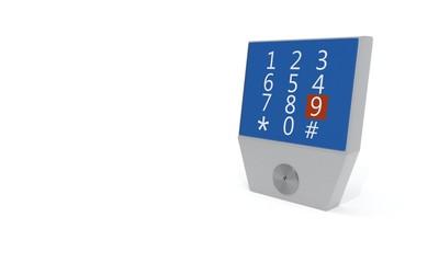 Modern locking system, 3d rendering